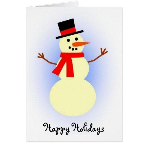 Snowman holiday card