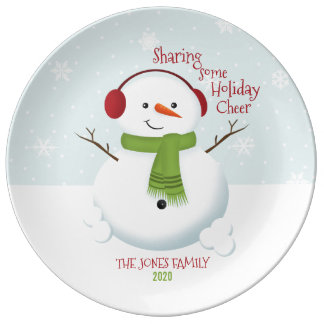 Snowman Holiday Cheer Plate