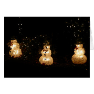 Snowman Holiday Light Display Card