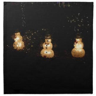 Snowman Holiday Light Display Napkin