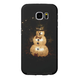 Snowman Holiday Light Display Samsung Galaxy S6 Cases