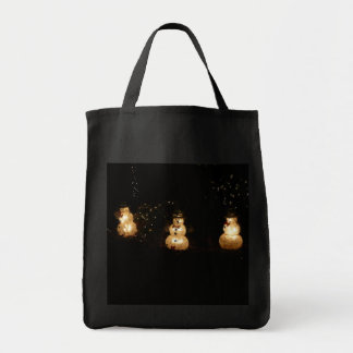Snowman Holiday Light Display Tote Bag