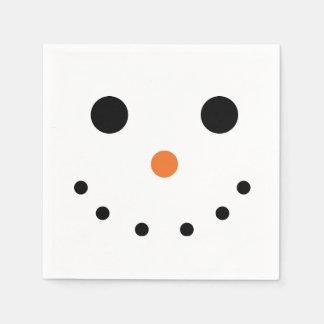 Snowman Holiday Paper Napkins Disposable Serviette