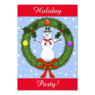 Snowman Holiday Party Invitation (Customizable)
