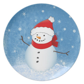 Snowman Holiday Plate