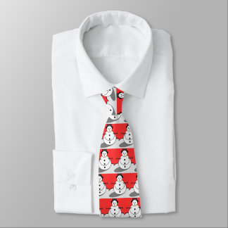 Snowman Holiday Tie