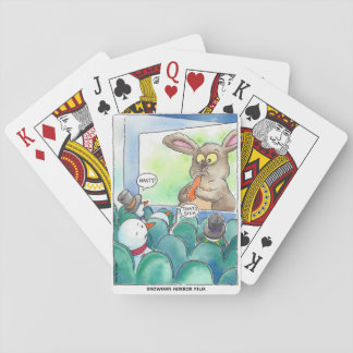 Snowman Horror Film Playing Cards