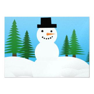 Snowman illustration card
