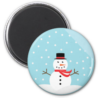 Snowman in a Snow Globe Magnet - Customized