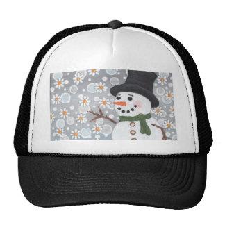 Snowman in a Snowstorm Cap