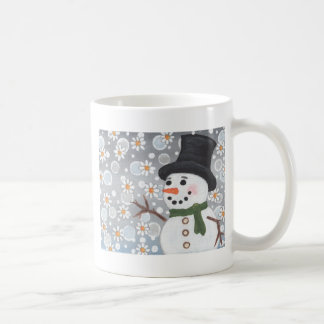 Snowman in a Snowstorm Coffee Mug