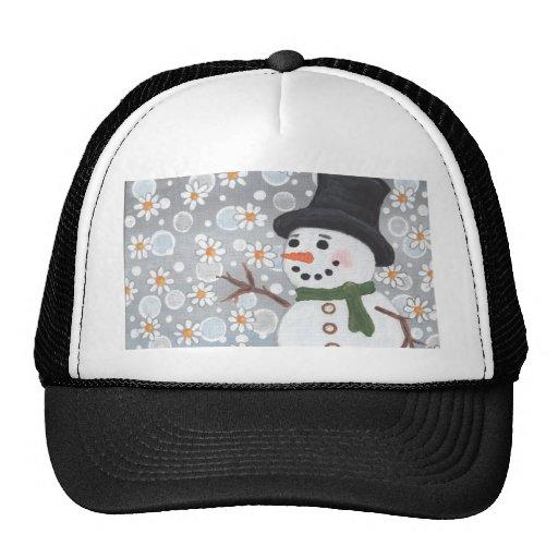 Snowman in a Snowstorm Hats