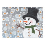 Snowman in a Snowstorm Post Card