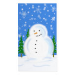 Snowman in Blizzard Gift Tag Business Cards