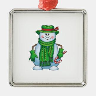 Snowman in green Ornament