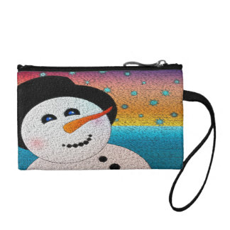 Snowman In Tophat Coin Purse