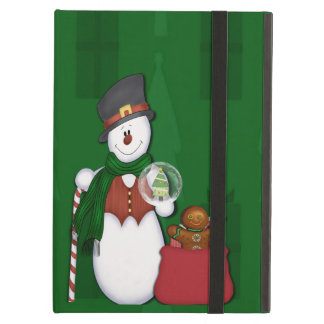 Snowman in Tophat iPad Air Covers