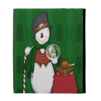 Snowman in Tophat iPad Case