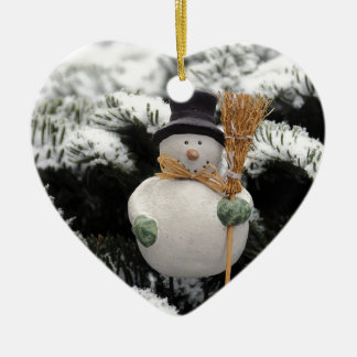 Snowman in Trees Christmas Ornament