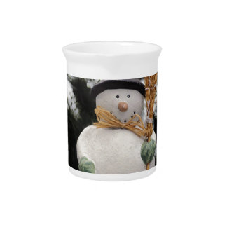 Snowman in Trees Pitcher
