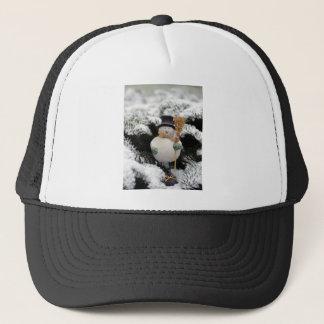 Snowman in Trees Trucker Hat