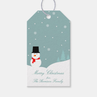 Snowman in Winter Christmas Gift Tags