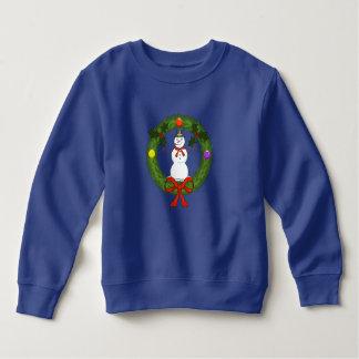 Snowman in Wreath Toddler Sweatshirt
