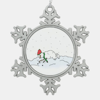 Snowman Issues Snowflake Pewter Christmas Ornament