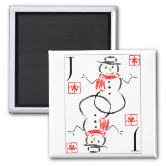 Snowman - Jack of Presents Refrigerator Magnet