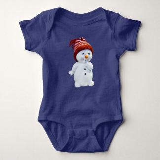 Snowman Jersey Bodysuit