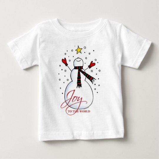 Snowman Joy Baby T-Shirt