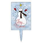 Snowman Joy Cake Pick