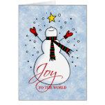 Snowman Joy Card