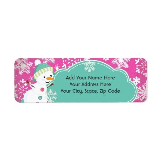 Snowman Joy Holiday Return Address Labels