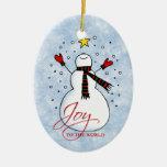 Snowman Joy Ornament