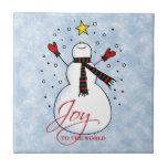 Snowman Joy Tile
