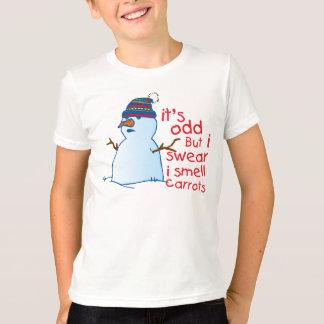 Snowman  Kids Ringer T-Shirt