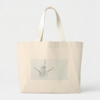 Snowman Large Tote Bag