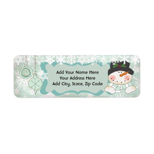 Snowman Let it Snow Holiday Return Address Labels