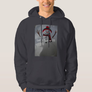 "Snowman ""Let It Snow"" Men's Pullover Hoodie"