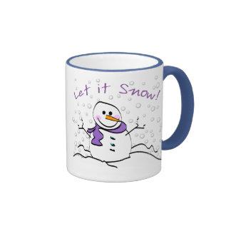 Snowman Let it Snow Mug