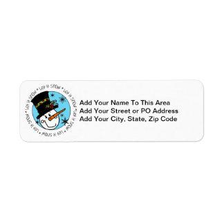 Snowman Let It Snow Return Address Label