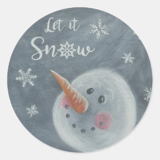 Snowman Let it Snow sticker