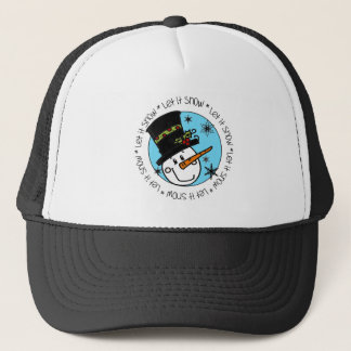 Snowman Let It Snow Trucker Hat