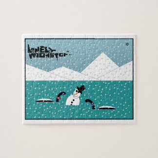 Snowman Lonely Monster Jigsaw Puzzle