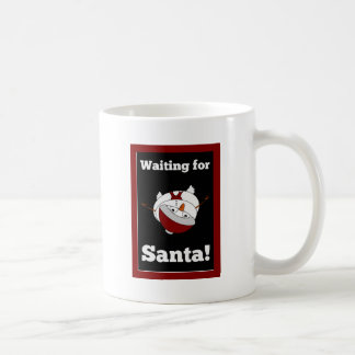 Snowman looking for Santa Claus Basic White Mug