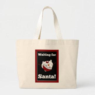 Snowman looking for Santa Claus Jumbo Tote Bag