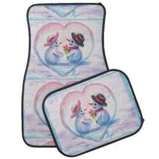 Snowman Love Floor Mat