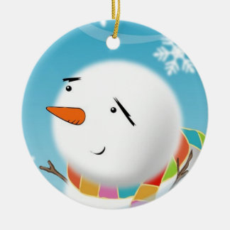 Snowman Masterpiece Christmas Ornament