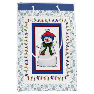 Snowman Medium Gift Bag